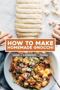 How to Make Homemade Gnocchi! A step-by-step process to create the best fresh Italian at home. Serve it for dinner with sauces and toppings and you've got a party! #gnocchi #italian #pasta #dinner #tutorial #homemade | pinchofyum.com