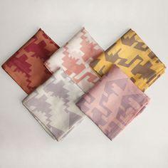Jamdani Print Silk Scarf