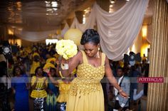 Nigerian Wedding Ceremony Oluwaseun and Akintomide Potter Clay Photography 14 Reception Dresses, Prom Dresses, Formal Dresses, Church Wedding, Wedding Reception, Potters Clay, Traditional, Weddings, Bride