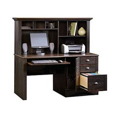 Harbor View Computer Desk With Hutch - Sauder Office Furniture