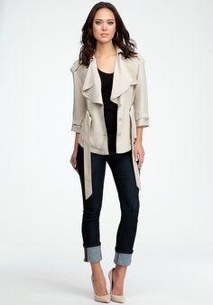 bebe | Ruffled Safari Jacket - Jackets & Outerwear - Jackets & Coats