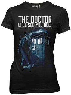 Small Amazon.com: Doctor Who Doctor Will See You Now Tenth Juniors Tee: Clothing