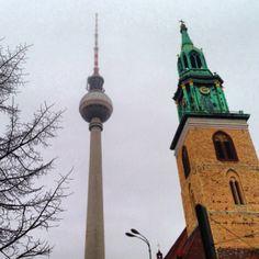 Berlim, Alemanha Cn Tower, Four Square, Berlin, Europe, History, City, Building, Sweet, Travel