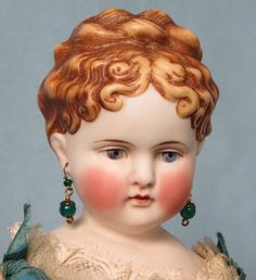 ON HOLD for P. Antique Child-Like Parian Shoulder Head Doll With Rare from abigailsattic on Ruby Lane