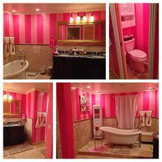 VS Inspired Bathroom ♡ (Looks Like My Daughteru0027s Bedroom Walls)