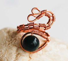 Unique Copper Wire Wrap Ocean Agate Gemstone by jeanninehandmade, $6.00