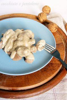 gnocchi di castagne con salsa alle noci #recipe #juliesoissons