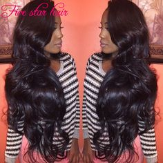 """Find More Human Wigs Information about 12"""" 24"""" Available 150 density human hair Full Lace wigs 8A grade Brazilian long Wavy Lace Front wigs with natural hairline,High Quality wig manufacture,China wig toupee Suppliers, Cheap wig remy from Five star human hair products store  on Aliexpress.com"""