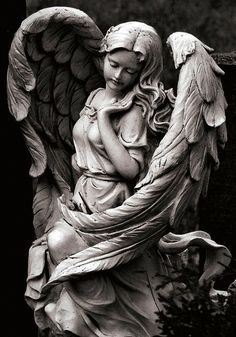 Fashion Art Sculpture 25 New Ideas Statue Tattoo, Cemetery Angels, Cemetery Art, Angels Among Us, Angels And Demons, Statue Ange, Religious Tattoos, Angel Art, New Tattoos