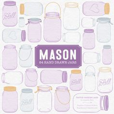 You can never have enough mason jars, am I right? You can use them for pretty much everything, including light fittings! So use these cute files to create floral vases or even for logo design!