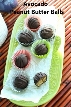 Avocado Peanut Butter Balls (Vegan, Gluten-Free, Paleo)