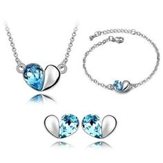 Austrian Crystal Set - Secret language of love ( Navy blue ) 5017