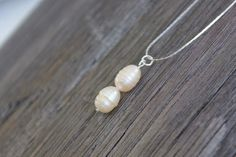 Pearl Necklace Sterling Silver Necklace by HHRusticJewels on Etsy