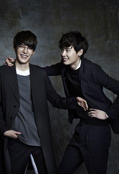 Best bromance ever!! :) Kim Woo Bin and Lee Jong Suk!