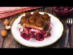 Marzipan Kirsch Tiramisu - Rezept für eine fruchtige Variante des italienischen Dessert Klassikers - YouTube