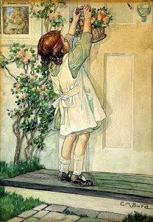 May Baskets- don't see them anymore.clara m burd illustrator Vintage Diy, Vintage Cards, Vintage Postcards, Vintage Magazines, Beltane, Vintage Pictures, Vintage Images, May Day Baskets, Monday's Child