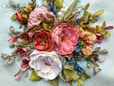 Encantadora cinta de seda de Cluster bordados imagen