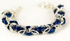 Silver & Colored Chainmaille Byzantine by design9imagination, $18.00