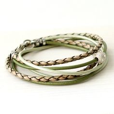 A personal favorite from my Etsy shop https://www.etsy.com/listing/226326170/leather-wrap-bracelet-hunter-green