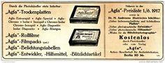 Original-Werbung/ Anzeige 1917 - AGFA TROCKENPLATTEN - ca. 230 x 80 mm