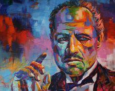 "The Godfather, Acrylic on Canvas, 48""x60"""