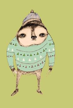 hipster sloth!