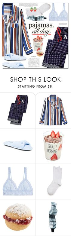 """PJs All Day: Lovely Loungewear"" by ansev ❤ liked on Polyvore featuring Mark & Graham, Hanky Panky, New Directions, Aesop and LovelyLoungewear"