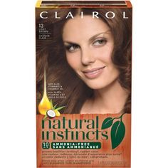 Clairol Natural Instincts Hair Color 13 Suede Light Brown Kit