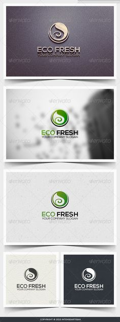 Eco Fresh Logo Template ...  2013 logo, 2014 logo, attractive, business, business logo, cmyk, corporate, creative, creative logo, eco fresh, ecology, fitness, green, logo template, nature, print ready, spa, stylish, unique