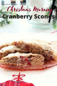 Quick, easy, casual and delicious Christmas morning idea. Cranberry scones are festive and can be made ahead for a quick AM snack. Christmas Appetizers, Christmas Drinks, Christmas Recipes, Christmas Cookies, Cranberry Scones, Christmas Morning, Breakfast Dishes, Breakfast Recipes, Appetizer Recipes
