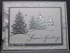 Silver Trees by Wdoherty - Cards and Paper Crafts at Splitcoaststampers