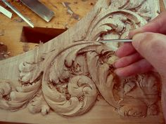 ORNAMENTAL WOODCARVER Patrick Damiaens: 17th Century Style Wood carving   Acanthus leaf design carved in walnut   North German Baroque   Baroque Cabinet from DANZIG
