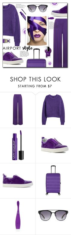 """Flying in Ultraviolet"" by annoula-g ❤ liked on Polyvore featuring WearAll, Charlotte Russe, Pierre Hardy, Antler, FOREO and HOOK LDN"
