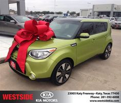 We came in looking for a specific Kia Soul and it was not at the dealership. Our salesman took us inside and introduced us to the internet sales guy, Rick Hall.   He was very helpful and found two of the exact cars we were looking for.  A great experience! - Harold H Siefert, Tuesday, January 13, 2015 http://www.westsidekia.com/?utm_source=Flickr&utm_medium=DMaxxPhoto&utm_campaign=DeliveryMaxx