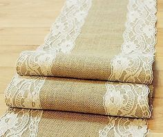 """Natural Burlap Table Runner with Lace Wedding Decor Rustic Shabby Chic Hessian Jute Outdoor Party (Length: 47""""), http://www.amazon.com/dp/B017R3E3RS/ref=cm_sw_r_pi_awdm_taVexb084GDRH"""