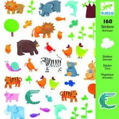 Djeco - 160 Animal Stickers - Toys and Games Ireland Zoo Preschool, Preschool Crafts, Good Night Quotes, Bee Crafts, Arts And Crafts, Baby Shower Crafts, Unusual Animals, 5 Year Olds, Mason Jar Diy