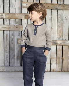Boys linen shirt with buttons , Linen top for boys, Linen clothes for kids, Linen boys outfit, Boy s Girls Occasion Dresses, Girls Party Dress, Boys Linen Pants, Kids Clothes Boys, Clothes For Women, Costume Garçon, Kids Outfits, Baby Boy Outfits, Boys Suits