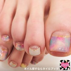 Toenails Toenail Polish Designs, Pedicure Designs, Pedicure Nail Art, Toe Nail Designs, Toe Nail Art, Crazy Nail Art, Crazy Nails, Summer Toe Nails, Winter Nails