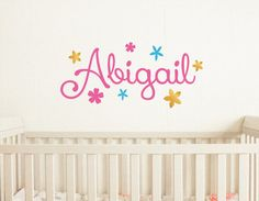 Nursery Wall Decal Girls Name  name decal by dadavinylsanddesigns