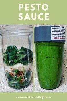 Super simple blender pesto sauce! #pesto #italian #healthycooking
