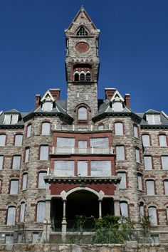 """Worcester State Hospital, MA. Built in 1870, opened in 1877. Closed in 1991.  I may have toured it in the """"70's as part of my psych degree.  My professor  worked there"""