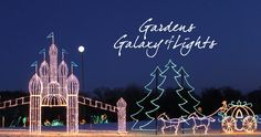 Gardens Galaxy of Lights at Huntsville Botanical Garden Christmas Light Displays, Christmas Lights, Winter Holidays, Holidays And Events, Botanical Gardens, Christmas Fairy Lights, Christmas Candles, Winter Vacations