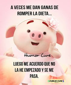 Funny Cartoon Quotes, Funny Emoji, Pig Drawing, Pig Illustration, Cute Pigs, Spanish Quotes, Emoticon, Cartoon Drawings, Lol