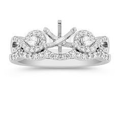 *****Swirl Pear Shaped and Round Diamond Wedding Set with Pave Setting ****This is the exact ring I want.  I have tried it on before and LOVE IT.***** From Shane & Co.