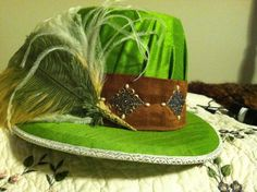 """Elizabethan Costume:  Men's Elizabethan Tall Hat. Custom made for client's ensemble. Client requested hat brim to be """"bent"""" - but normally it is made to be flat. #Elizabethan #Renaissance #Costume"""