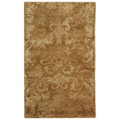 Harmony Runner Rug in Honey at Joss: Hand-tufted wool rug with a damask motif.  Product: RugConstruction Material:  WoolColor: Honey
