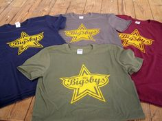 Bigsbys Logo Shirts  1 color discharge screenprint on ring spun cotton fashion fitted t-shirts