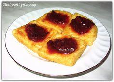 Panírozott grízkocka French Toast, Pie, Breakfast, Food, Torte, Morning Coffee, Cake, Fruit Cakes, Essen