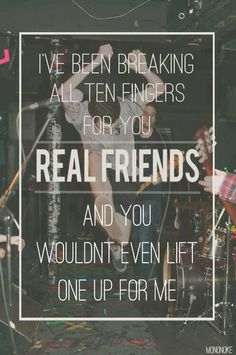 Anchors down // real friends
