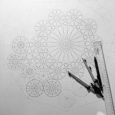 Geometry drawing by Dana Awartani